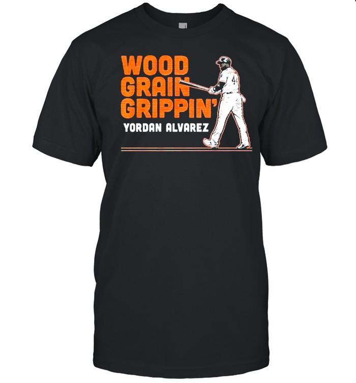 Yordan Alvarez wood grain grippin shirt Classic Men's T-shirt
