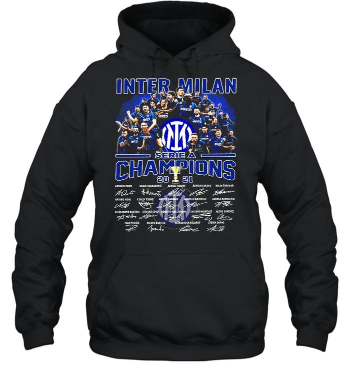 Inter milan serie a champions 2021 shirt Unisex Hoodie
