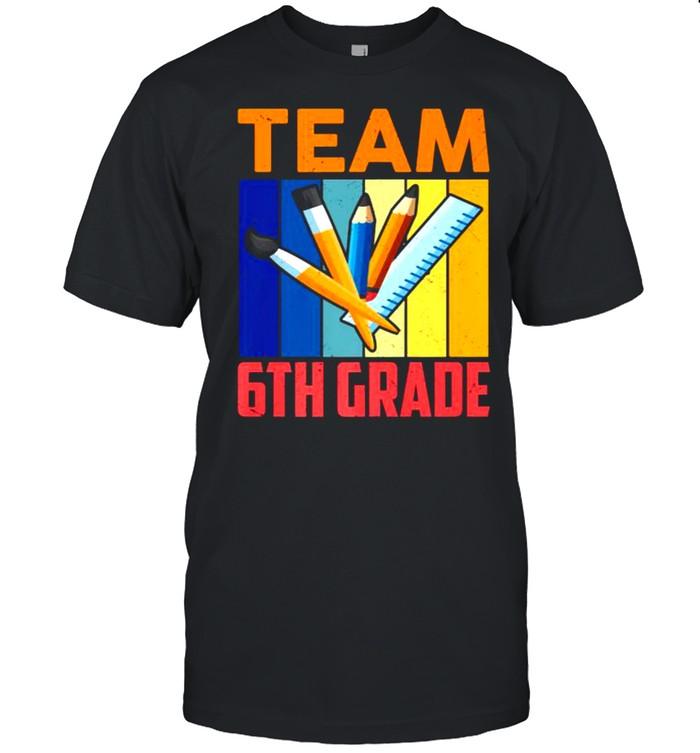 Team 6th Grade Squad Teacher Students Back To School Premium  Classic Men's T-shirt
