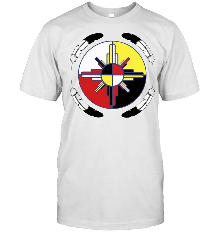 Medicine Wheel Feather Native American T-shirt Classic Men's T-shirt
