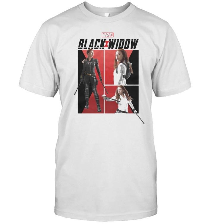 Marvel Black Widow Panels shirt Classic Men's T-shirt