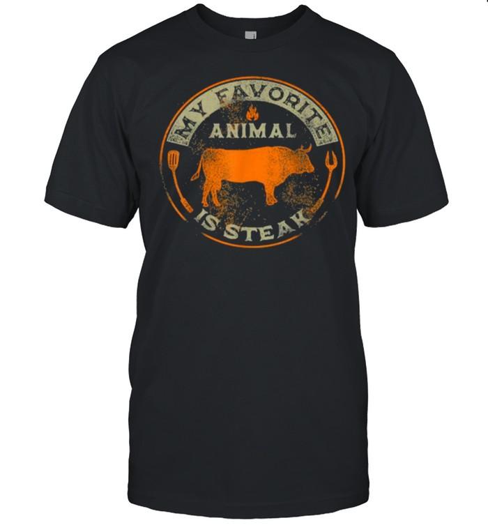 My Favorite Animal is Steak BBQ T- Classic Men's T-shirt