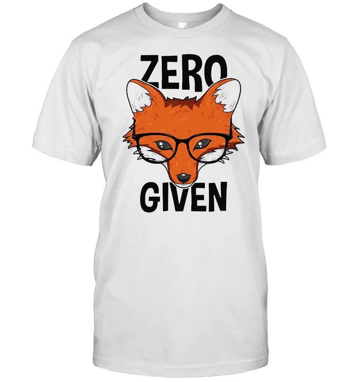 Zero Fox Given Funny Idgaf Foxes Pun T-shirt Classic Men's T-shirt