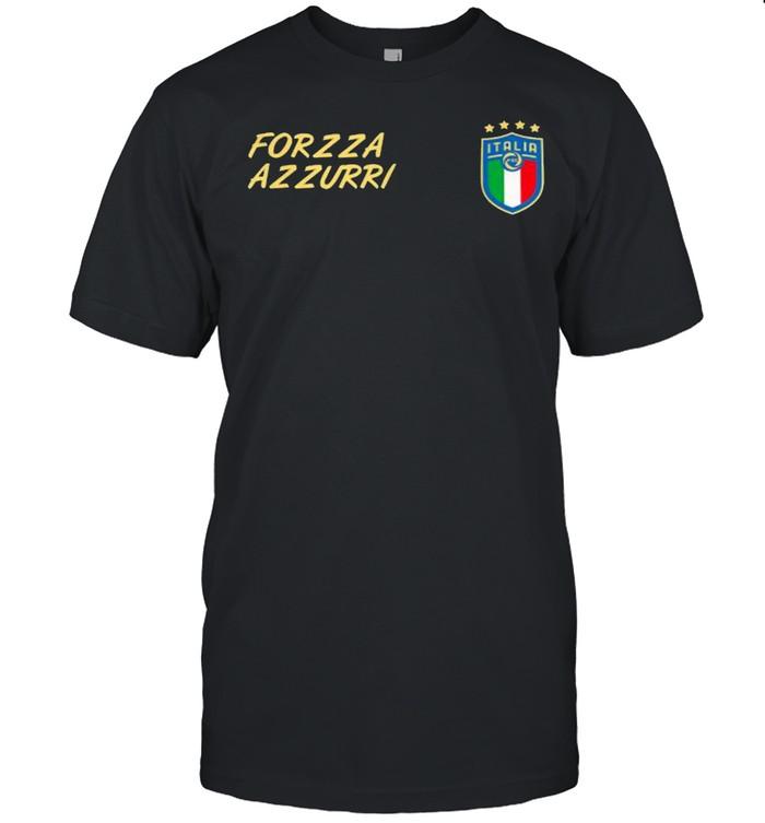 Italy Soccer Jersey Italia Flag Forza Azzurri Football  Classic Men's T-shirt