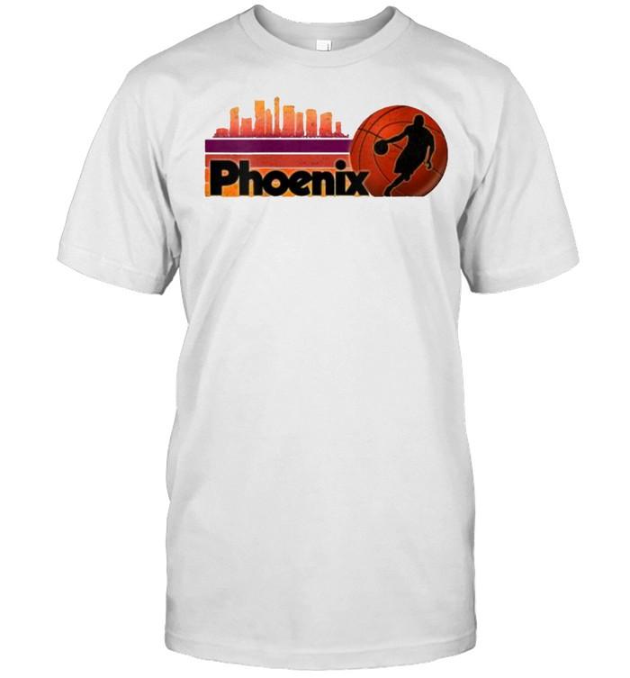 Phoenix AZ Cityscape Sun Basketball Fans T- Classic Men's T-shirt