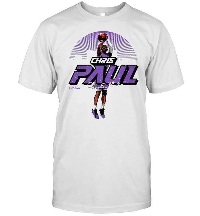 Phoenix Basketball Chris Paul Skyline throw the ball signature shirt Classic Men's T-shirt