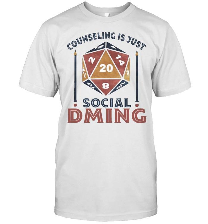 Counseling is just social dming shirt Classic Men's T-shirt