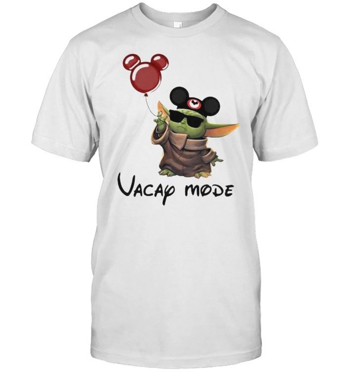 Vacap Mode Baby Yoda Mickey  Classic Men's T-shirt
