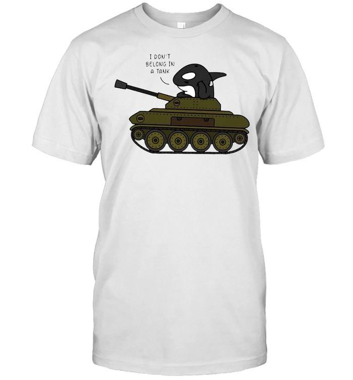 Orcas I dont belong in a tank shirt Classic Men's T-shirt