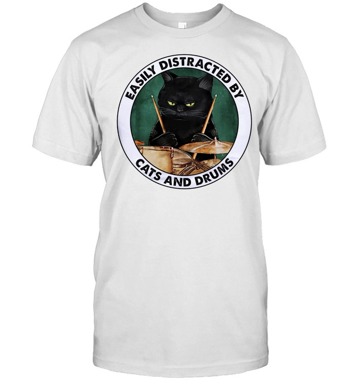 Easily distracted by cats and drums shirt Classic Men's T-shirt