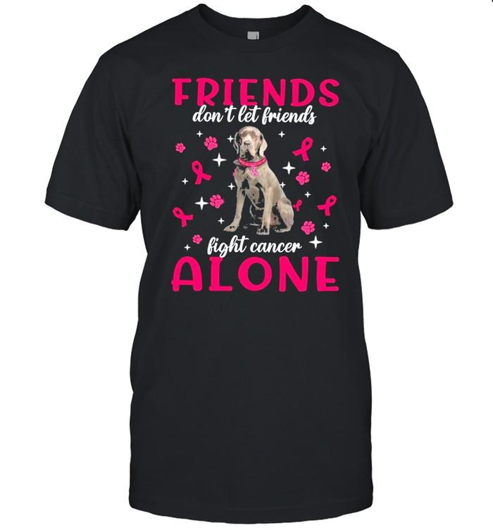 Neapolitan Mastiff Friends dont let Friends fight cancer Alone Pink shirt Classic Men's T-shirt