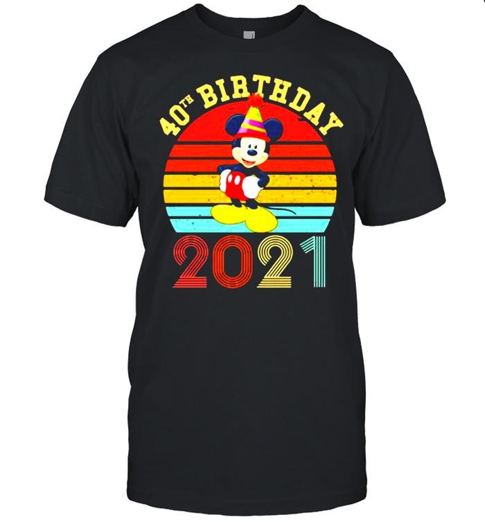 40th Birthday 2021 mickey Vintage  Classic Men's T-shirt