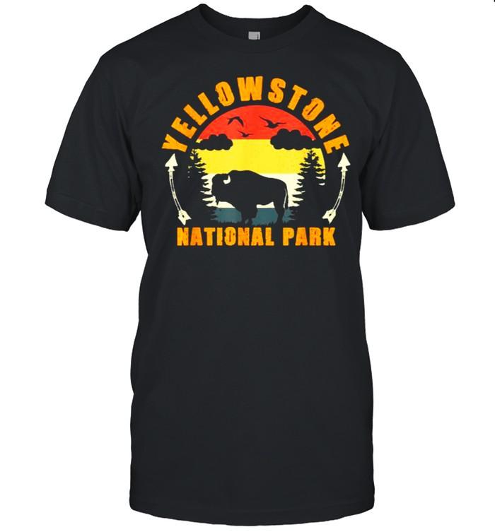 Yellowstone National Park US Bison Buffalo Vintage T- Classic Men's T-shirt