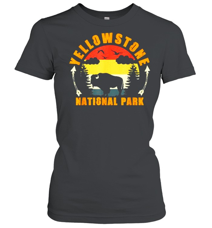 Yellowstone National Park US Bison Buffalo Vintage T- Classic Women's T-shirt
