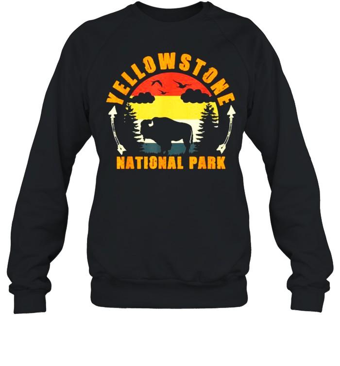 Yellowstone National Park US Bison Buffalo Vintage T- Unisex Sweatshirt