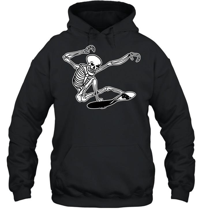 Skeleton Skateboarding Skater Halloween Bones shirt Unisex Hoodie