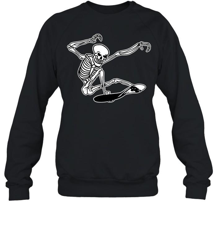 Skeleton Skateboarding Skater Halloween Bones shirt Unisex Sweatshirt