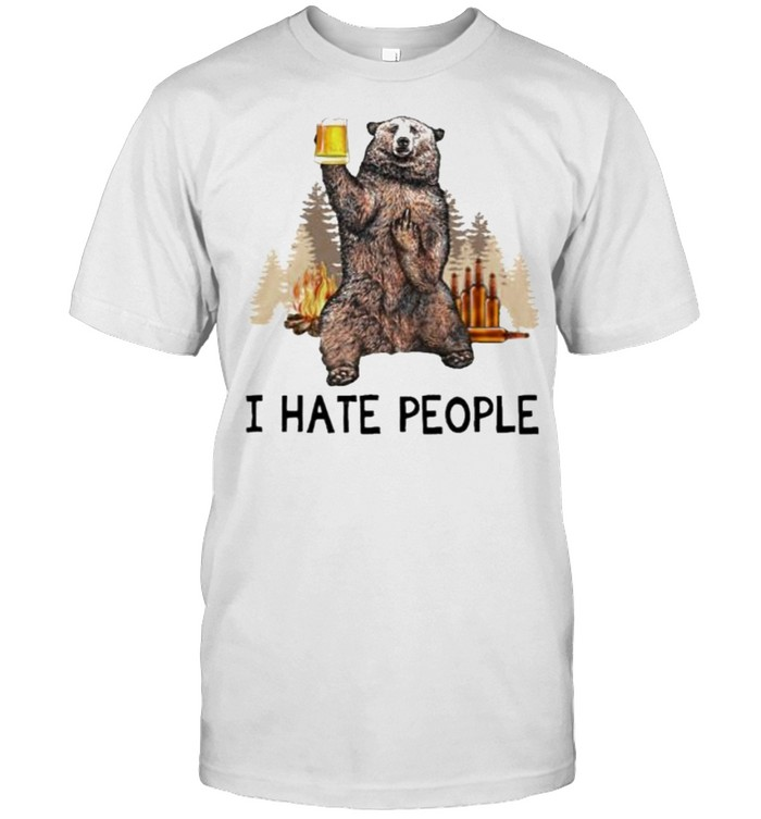 I Hate People And Bear Drink Beer  Classic Men's T-shirt