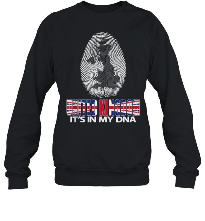 It's In My DNA UK Map Fingerprint United Kingdom Flag Pride T- Unisex Sweatshirt