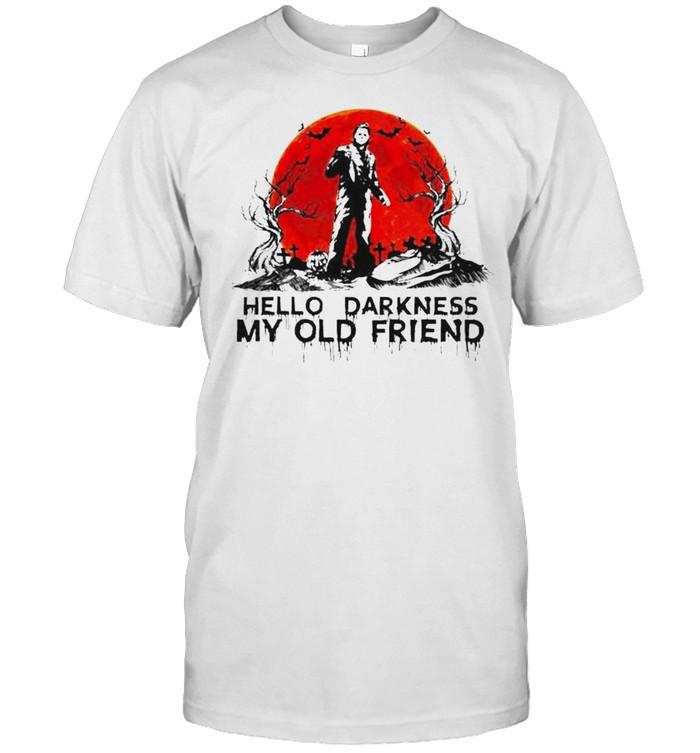 Michael Myers hello darkness my old friend Halloween shirt Classic Men's T-shirt