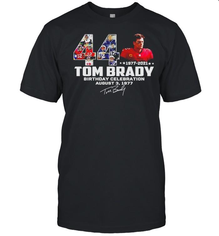 Tom Brady 1977 2021 birthday celebration August 3 1977 signature shirt Classic Men's T-shirt