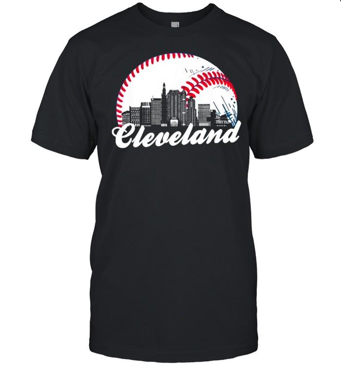 Cleveland Baseball Skyline T- Classic Men's T-shirt
