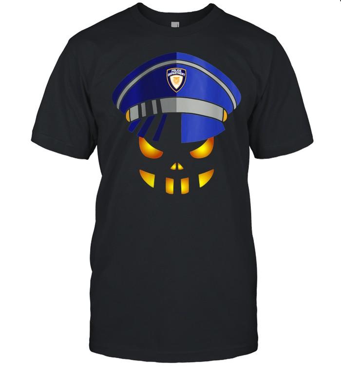 Halloween 2021 Police Officer Costume Pumpkin Smile shirt Classic Men's T-shirt