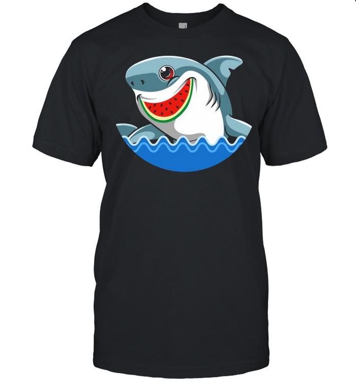 Shark Watermelon Summer Surfing Ocean Beach T-shirt Classic Men's T-shirt