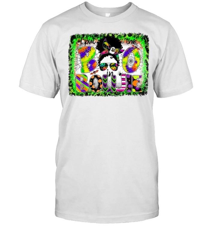 I Put The Boo In The Bookie Messy Bun Girls Halloween T- Classic Men's T-shirt