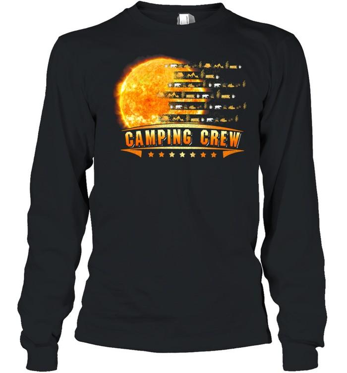 Camping Crew Moon shirt Long Sleeved T-shirt