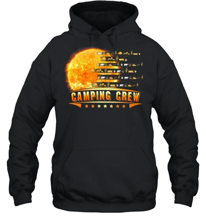 Camping Crew Moon shirt Unisex Hoodie