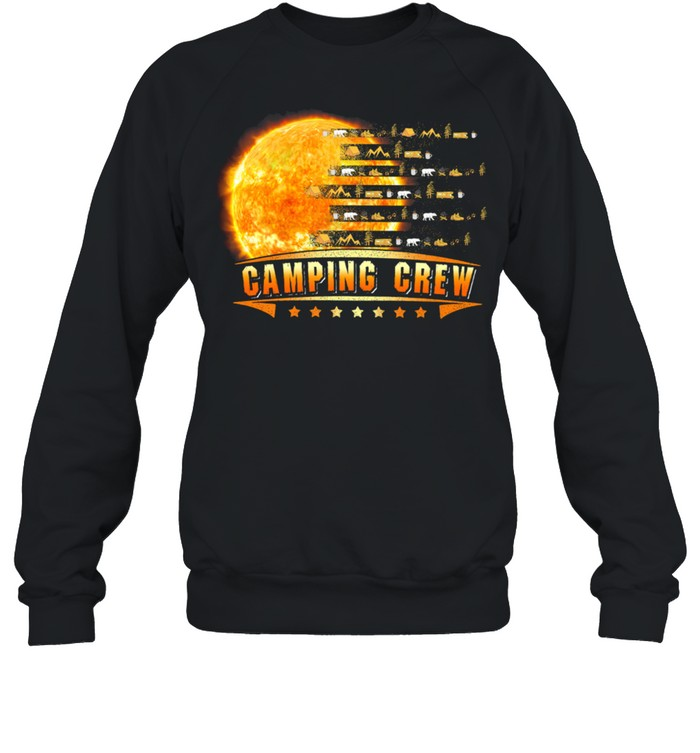 Camping Crew Moon shirt Unisex Sweatshirt