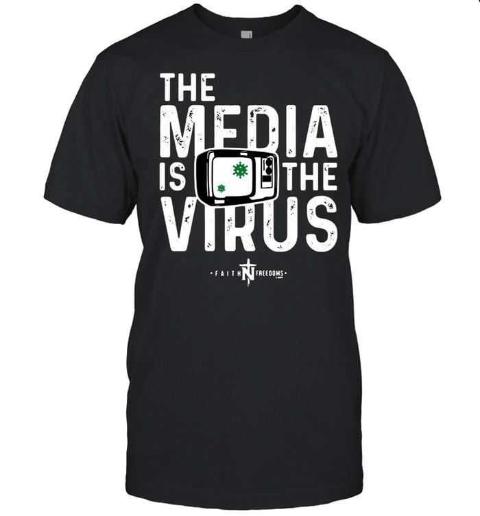 The Media Is The Virus Faith Freedoms T-shirt Classic Men's T-shirt