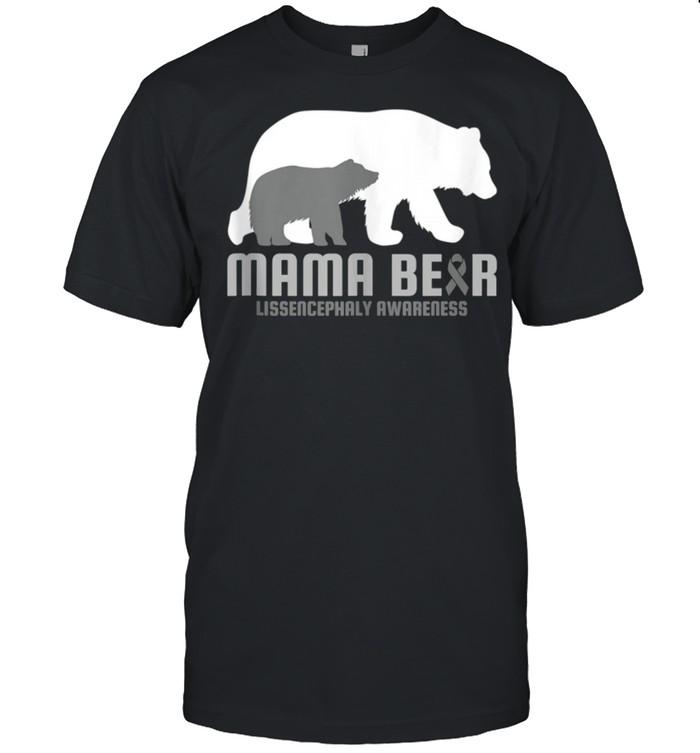 Lissencephaly Awareness Brain Disease Related Mama Bear Ribb shirt Classic Men's T-shirt