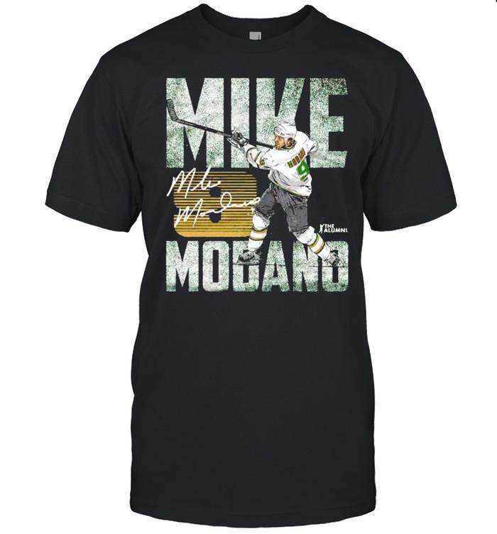 Dallas Stars Mike Modano #9 hit the ball shirt Classic Men's T-shirt