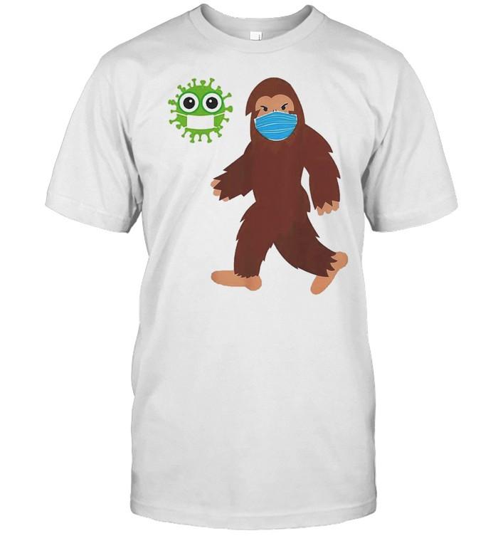 bigfoot face mask corona shirt Classic Men's T-shirt