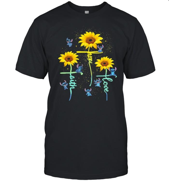 Faith hope love stitch sunflower shirt Classic Men's T-shirt