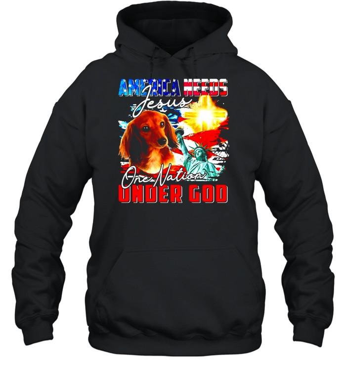 America Needs Jesus One Nation Under God T-shirt Unisex Hoodie