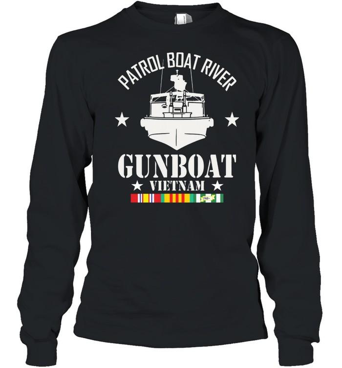 Patrol Boat River Gunboat Vietnam 1960 shirt Long Sleeved T-shirt