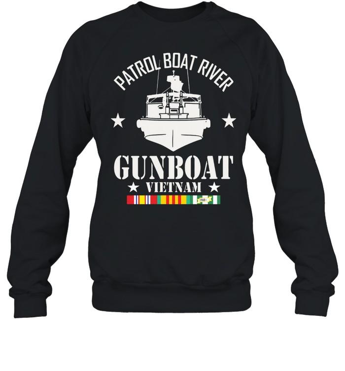 Patrol Boat River Gunboat Vietnam 1960 shirt Unisex Sweatshirt