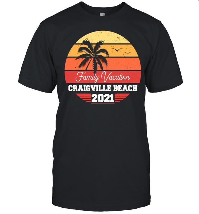 Craigville Beach Family Vacation 2021 Retro Group Matching shirt Classic Men's T-shirt