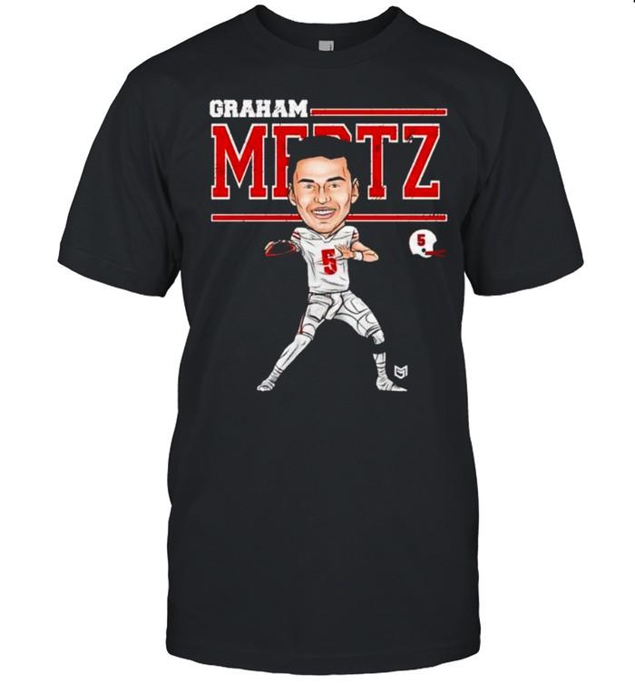 Wisconsin Badgers Graham Mertz #5 cartoon shirt Classic Men's T-shirt