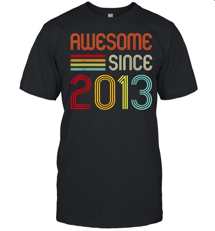 Awesome Since 2013 7th Birthday Retro shirt Classic Men's T-shirt