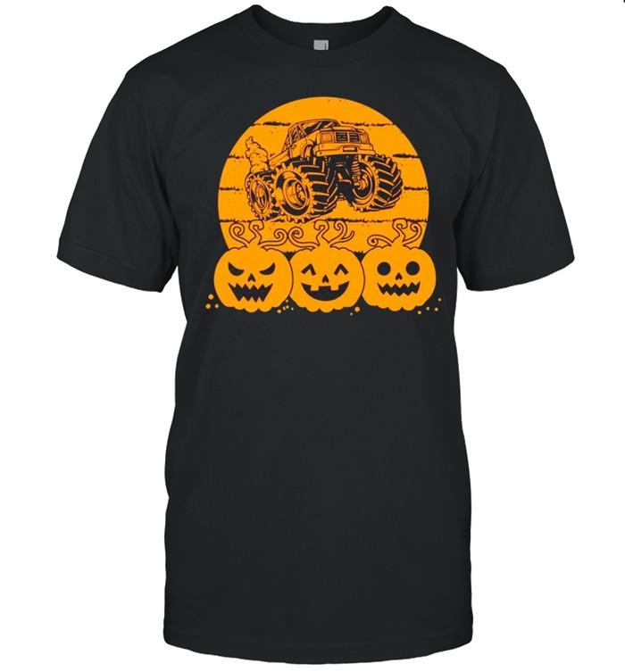 Halloween Pumpkin Monster Truck shirt Classic Men's T-shirt