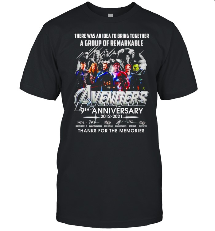 Avengers 9th Anniversary there was an idea to bring together shirt Classic Men's T-shirt