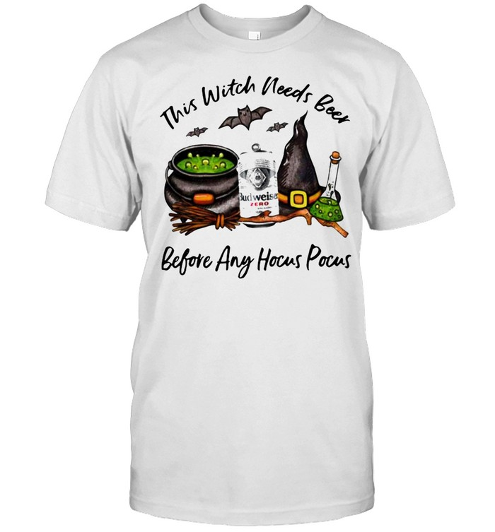 Budweiser Zero Can This Witch Needs Beer Before Any Hocus Pocus Halloween  Classic Men's T-shirt
