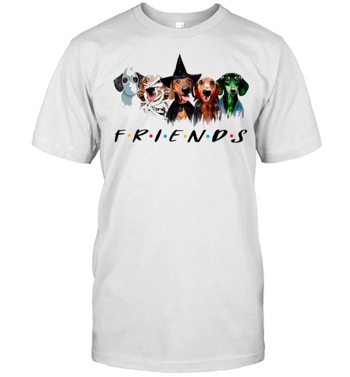 Dachshund Friends Halloween 2021 shirt Classic Men's T-shirt