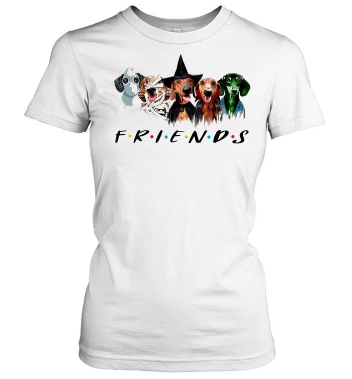 Dachshund Friends Halloween 2021 shirt Classic Women's T-shirt
