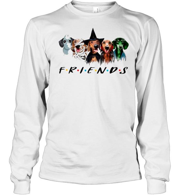 Dachshund Friends Halloween 2021 shirt Long Sleeved T-shirt