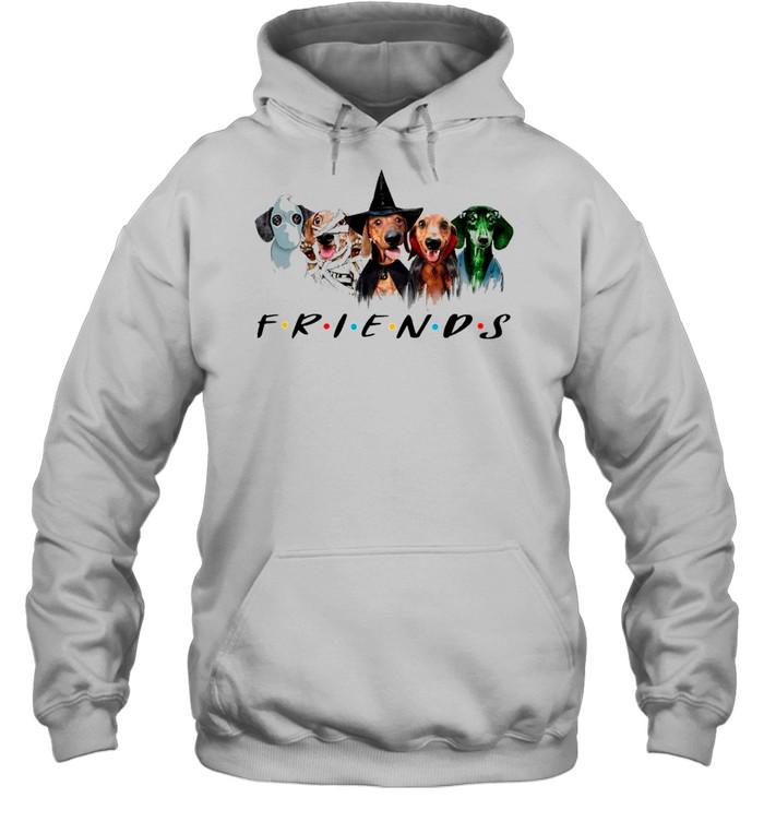 Dachshund Friends Halloween 2021 shirt Unisex Hoodie